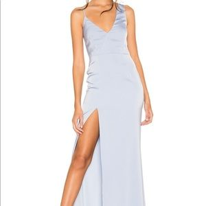 Revolve negroni gown in baby blue NWOT